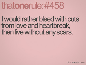 Scars Quotes Tumblr Live without any scars