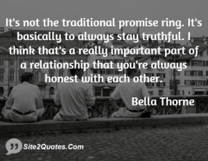 It's not the traditional promise ring. It's basically to always stay ...
