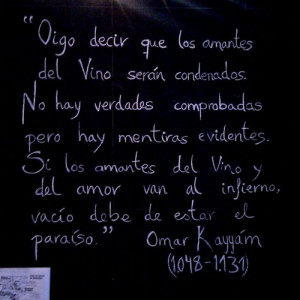 They say that wine lovers and Love will be condemned,