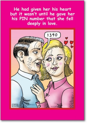 Pin Number Unique Funny Valentine's Day Greeting Card