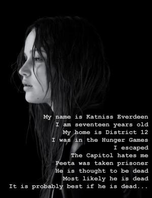 Katniss Everdeen Mockingjay Quotes Katniss everdeen was born on