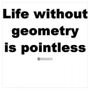 CafePress > Wall Art > Posters > Life without geometry Poster
