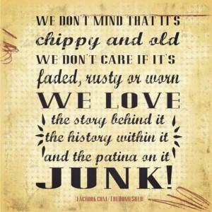 We love junk. #junk