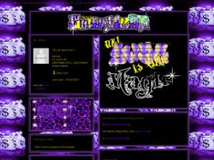 Purple Money - Swag Is Like Magic MySpace Layout Preview