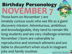 Birthday Personology November 7Sun: ScorpioRuling Planet: Neptune ...