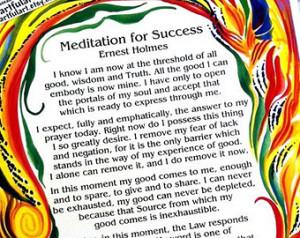 Meditation For Success ERNEST HOLME S Inspirational Quote Motivational ...