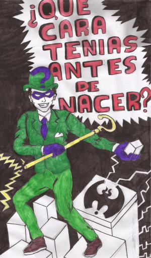 RIDDLER QUOTES BODHIDARMA (INKS + COLOR) by Cuestionador