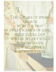 The Colors Of Spring Emerge With The First Sweet Sounds Of Song Birds ...