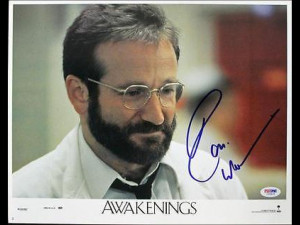 Robin Williams Awakenings Signed 11x14 Photo Lobby Card Psa #i626422