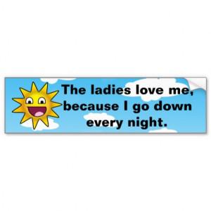 Hilarious Crude Cartoon Sun Bumper Sticker
