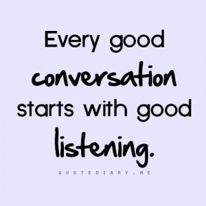 Every good conversation...