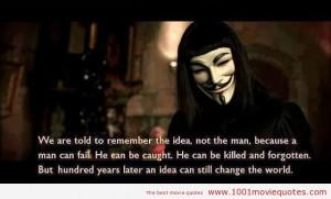 for Vendetta (2005) quote
