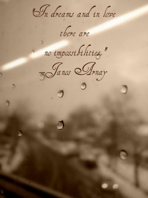 ... dreams and in love there are no impossibilities ~ Being In Love Quote