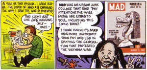 Panels by R. Crumb (left) and Art Spiegelman (right) inspired by the ...