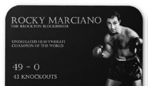 Rocky Marciano Knock Out iNspire Quote Poster Poster
