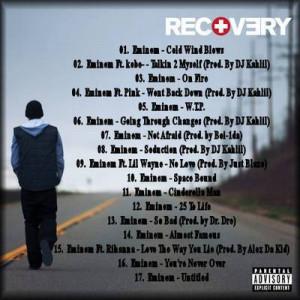 Eminem Recovery Album Cover