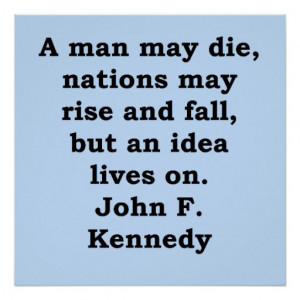 john f kennedy quote poster