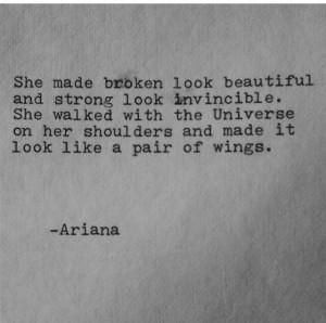 like a pair of wings Ariana: Quotes Broken Love Women, Broken Wings ...
