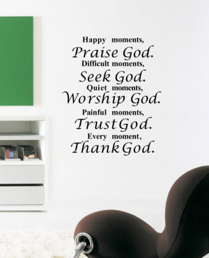 ... - Christian Wall Art Quote Removable Vinyl Decal Stickers Art Decor