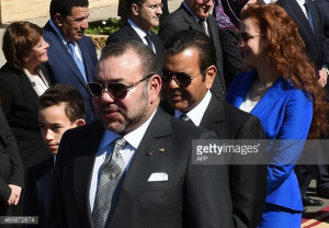 News Photo Moroccan King Mohammed VI accompanied by his son
