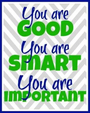 Classroom Poster // Printable // Good reminder: