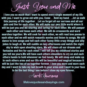 Just You And Me - Love Quotes And Sayings