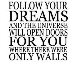 Follow your dream quotes - Believing in your dream - Believe in your ...