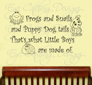 Details about Frogs Snails Puppy Dog Tails Quote Art Wall Decal Vinyl ...