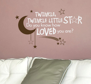 Nursery Quote Decal Twinkle Twinkle Little Star - Children Wall Decal