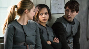 Shailene Woodley, Zoe Kravitz, and Ben Lloyd-Hughes in a scene from ...