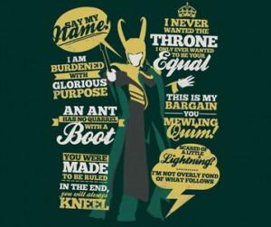 Loki Quotes T-Shirt