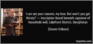 reasons, my love. But won't you get thirsty?' — Inscription found ...