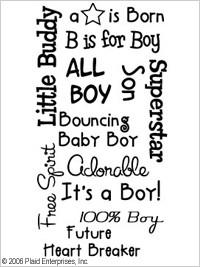 Me & My Peeps™ Iron-ons - Baby Boy Sayings