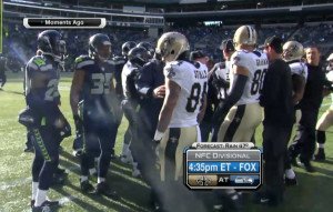 ... on Jimmy Graham starting a fight before a Saints-Seahawks game