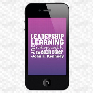 Leadership learning are indispensable to each other leadership quote