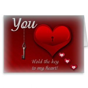 You hold the key to my heart cards