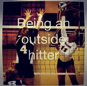 Outside hitter in volleyball