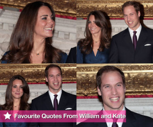 Pictures and Quotes From Prince William and Kate Middleton's ...