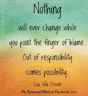 Out of responsibility comes possibility