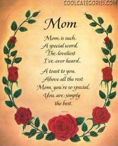 Thank You Mom - To Best Mom Ever