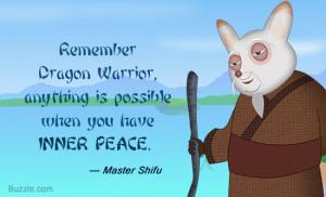 Kung Fu Panda 2 quote by Master Shifu