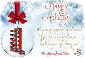 Happy Holidays from Ryson. From all our employees, we would like to ...