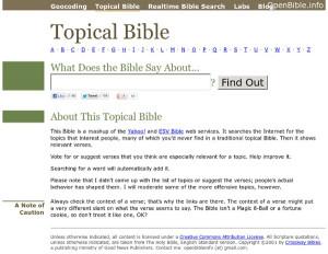 Bible Verses Topic...