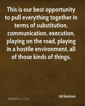 This is our best opportunity to pull everything together in terms of ...