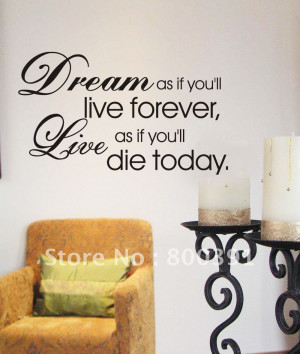 Fashion 60*80cm Vinyl Quote wall stickers , waiting room decorative ...