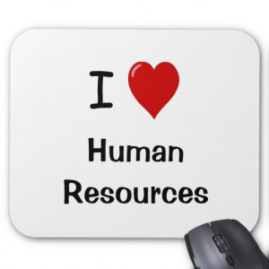 Love Human Resources - HR Quote Mouse Mats