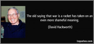 The old saying that war is a racket has taken on an even more shameful ...