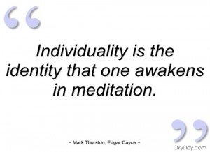 individuality is the identity that one