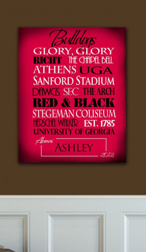 Georgia Bulldogs: Personalized, Ready to Hang Standout-via Etsy.