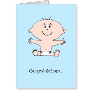 Congratulations Baby Boy Funny Greeting Card